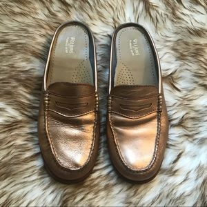 COPPER LEATHER WEEJUNS LOAFER MULES